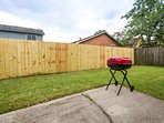 Private Fenced In Backyard Includes Patio With BBQ Grill