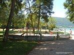 St Jorioz beach childrens' playground.