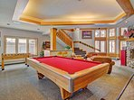 Game room - Clubhouse features pool table and other fun table games.