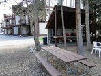 Outdoor BBQ & picnic area - Large barbecue, picnic tables, outdoor barbecue
