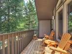 Wrap around deck with creek & mountain views