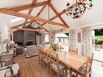 Spacious light kitchen, sitting room