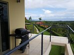 BBQ grill provided on upper deck.  View ocean and mountains as you grill out fresh Tuna and Snapper