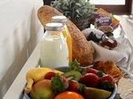 Full breakfast includes freshly laid eggs and other produce from our farm and other local farm