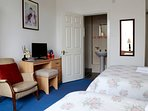 Family en-suite room with shower sleeps 3. Double bed and single bed