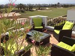 Wonderful view from your tastefully furnished Middle of Three terraces