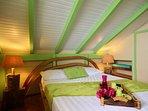 Première chambre double avec vue mer (ventilateur)