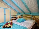 Deuxième chambre double avec vue mer (ventilateur)