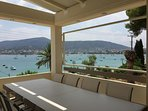outdoor dinning and relaxing veranda with amazing sea view