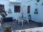Guests Private Patio Area, for Alfresco Dining, and the last of the days sunshine....