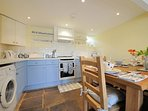 Smart kitchen with dining table