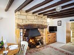 The cosy, characterful living room
