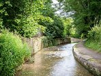 The quaint, winding Blockley Brook