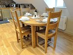 ... and a dining table with seating for six