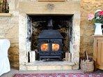 The roaring log burner