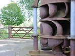 The old water turbine (the other is in a museum)