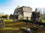 ...and the ancient ruins of Minster Lovell Hall