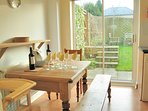 The kitchen table and chairs, perfect for breakfast
