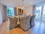 Smart and inviting dual aspect dining room