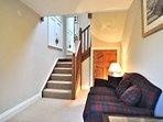 Hallway with sofa