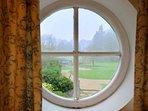 Lovely views through the porthole window