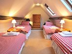 The four single bed eaves bedroom