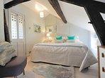 The top floor bedroom suite