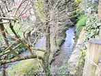The local stream at the back of the garden