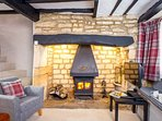Fabulous log burner, creating a perfect cottage feel