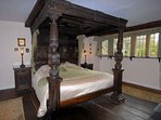 The grand, four poster bed
