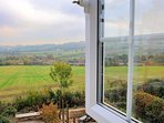 Lovely countryside views from the twin bedroom