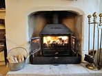 Roaring log burner for those cold winter nights