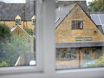 Looking out over the Cotswold Pottery shop
