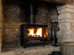 Lovely Morso log burner