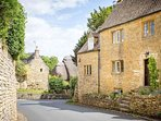Beautiful cottages come into view at every turn in the road