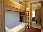 Adjoining bunk bed room, perfect for children!