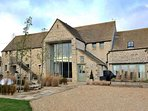 The substantial, detached, Barn and Stables in Chedworth