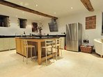 A cooks dream! Beautifully presented kitchen and island