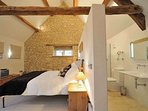 Master bedroom, with feature bathroom and plenty of character