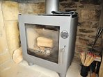 The modern log burning stove, ideal for those winter evenings