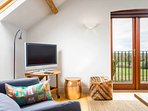 Admire the rural views, or watch the TV?