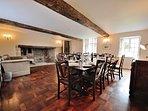 Large, elegant dining room