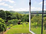 Magnificent views of the garden and beyond