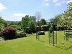 The mature garden is perfect for enjoying outdoor activities...