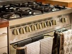 Range cooker, with double oven