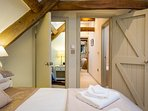 The small 3rd bedroom can be accessed directly from bedroom 2
