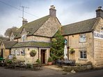 Naunton's village pub, moments from the cottage!