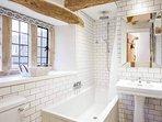 The smart family bathroom, with a rain shower