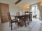 Dining room for six adults