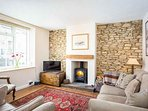 Characterful, contemporary living room